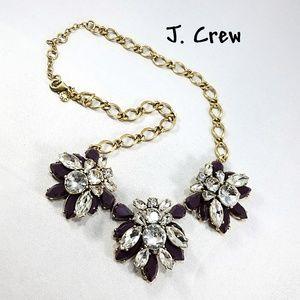 J. Crew Crystal Rhinestone Statement Necklace